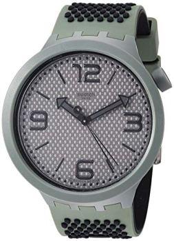 Swatch 1905 Big Bold Quartz Silicone Strap, Grey, 24 Casual Watch (Model: SO27M100)