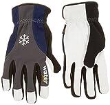 Vgo… Goatskin Leather Waterproof Winter Work Gloves(2Pairs)(Size M/L/XL/XXL/XXXL, Grey)
