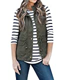 Product review for Women's Casual Sleeveless Lightweight Drawstring Botton Zipper Up Jacket Vest Coat With Pockets