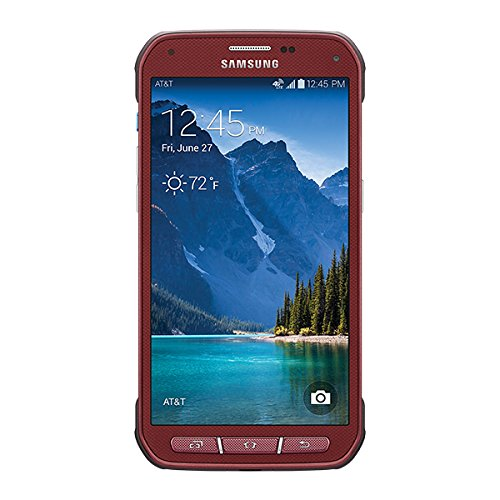Samsung Galaxy S5 Active G870a 16GB Unlocked GSM Extremely Durable Smartphone w/16MP Camera - Ruby Red
