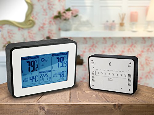 YOULANDA-Indoor-Outdoor-Thermometer-Digital-Hygrometer-Large-Display-Humidity-Temperature-Monitor-Multifunctional-Weather-Station-with-Alarm-Clock