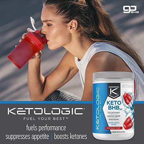 KetoLogic Keto BHB Exogenous Ketones Powder Supplement: Patriot Pop (60 Servings) - Boosts Ketosis, Increases Energy & Focus, Suppresses Appetite – Supports Keto Diet & Weight Management 9