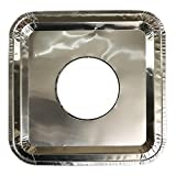 40 PC Aluminum Foil Square Gas Burner Disposable Heavy Thick Quality Bib Liners Covers (8.5' Square) from Cavalier