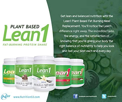 LEAN1 Nutrition 53 Meal Replacement Powder for Weight Loss, Fat Burner, Appetite Control, Plant Based Chocolate (31.7 Ounce) 5