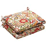 Pillow Perfect Outdoor/Indoor Zoe Mallard Squared Corners Seat Cushion (Set of 2)