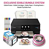 Icinginks Edible Printer Art Package - Comes With Edible Printer, Edible Cartridges, Wafer Paper, Frosting Sheets, Set of 5 Double Tip Edible Markers - Best Cake Image Printer, Canon Edible Printer