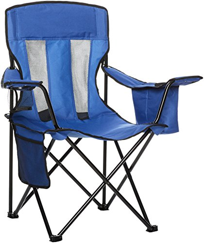 AmazonBasics Camping Chair with Cooler, Blue...