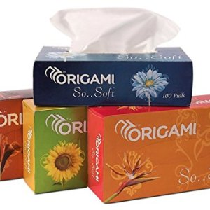 Origami So Soft 2 Ply Face Tissue Box - 100 Pulls (Pack of 4) 12