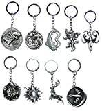 Fashion key chains For Wallet, Bag, Mini bag, Handy bag, Key holder, Phone, Backpack, Necklace, Car and etc. All 9 items are premium collectible keychain that makes a great gifts for fans on Game of Thrones or for yourself. Item Type: Key Chains Com...