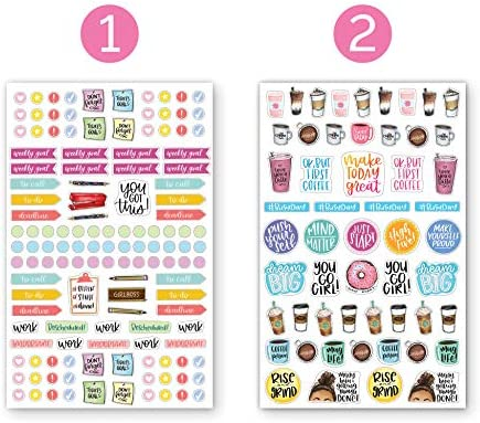 bloom daily planners New Classic Planner Sticker Sheets - Variety Sticker Pack - 417 Stickers Per Pack! 2
