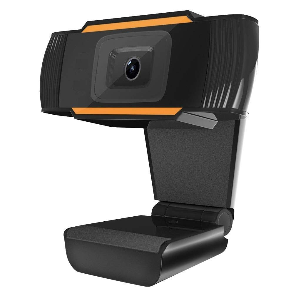 GadgetKarePro 720p HD Webcam with Microphone and Autofocus for PC Desktop & Laptop Computer Camera for Video Calling, Recording, Conferencing, Online Teaching, Built-in Mic