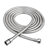 HOMEIDEAS 118-Inch Shower Hose SUS 304 Stainless Steel Extra Long Shower Head Hose Bathroom Handheld Showerhead Sprayer Extension Replacement,Polished Chrome