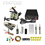 ITATOO Complete Tattoo Kit for Beginners Tattoo Power Supply Kit 1 Black Tattoo Ink 5 Tattoo Needles 1 Pro Tattoo Machine Guns Kit Tattoo Supplies