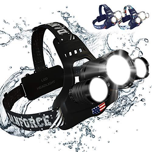 DanForce Headlamp. USB Rechargeable LED Head Lamp. Ultra Bright CREE 1080...