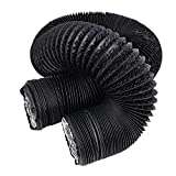 Hon&Guan 6 inch Air Duct - 32 FT Long, Black Flexible Ducting HVAC Ventilation Air Hose for Grow Tents, Dryer Rooms,Kitchen