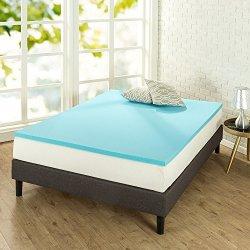 ZINUS 1.5 Inch Green Tea Cooling Gel Memory Foam Mattress Topper / Cooling Gel Foam / CertiPUR-US Certified, Twin