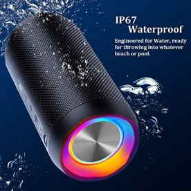 Wireless-Speaker-Bluetooth-COOCHEER-24W-Bluetooth-Portable-Speaker-with-Party-Light-IP67-Waterproof-Portable-Wireless-Speakers-for-Outdoor-TWS-20Hour-Playtime-Built-in-micDustproof