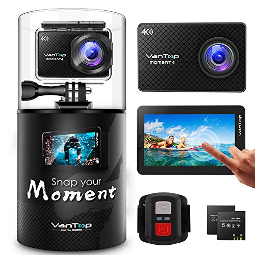 VanTop Moment 4 4K 20MP 30M Waterproof Action Camera with Touch Screen,...