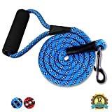 GOMA Industries Heavy Duty Dog Leash - Reflective Lead - 100% Nylon Indestructible leashes for Training- leashes for Medium, Large and XL pups - Mountain Climbing Rope Made