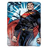 "The Northwest Company Superman Throw Smallville Micro Raschel Blanket 46"" x 60"""