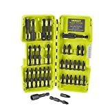 Ryobi 34 Piece Impact Rated Driving Bits with Dock-It Collection Storage Solution (Packaging May Vary)