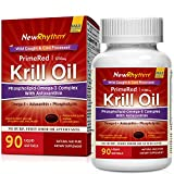 NewRhythm Krill Oil, 1250mg High Potency, Pharma Grade 90 Softgels