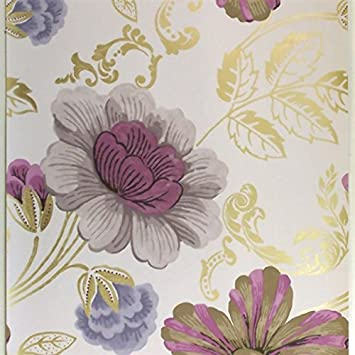 Designers Guild Amalienborg Wallpaper P475 02 Colour Amethyst Amazon Co Uk Diy Tools