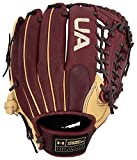 Under Armour Genuine Pro 11.75' Baseball Glove: UAFGGP-1175MT Black Cherry | Cream UAFGGP-1175MT Black Cherry | Cream Right Hand Thrower