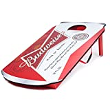 Budweiser Can Design Cornhole Bean Bag Toss Game Set - Includes 2 Bonus Beand Bags (10 total)!