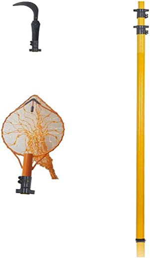 FESTEL - Skytuch Frp 5.5m/18ft Telescopic Pole with Coconut Plucker,Fruit Picker