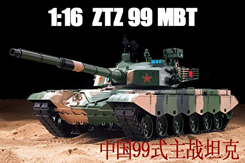 1/16 Scale Radio Remote Control Chinese ZTZ 99 MBT Tank Air Soft RC