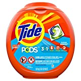 Tide PODS Laundry Detergent Liquid Pacs, Ocean Mist Scent, HE Turbo, 72 Count (Packaging May Vary)