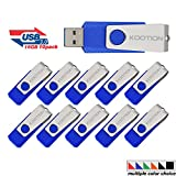 Kootion 16 GB USB Flash Drive 3.0 Flash Drive 10 Pack Thumb Drive Keychain Memory Stick Blue