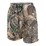Niwaww Realtree Camo Wallpapers Boys Quick Dry Beach Board Shorts Kids Swim Trunk Swimsuit Beach Shorts with Mesh Lining
