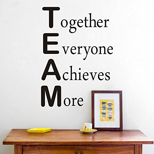 Wall Decal Team Motivational Quote Maribeatty Office Inspirational Together Everyone Achieves More Sticker