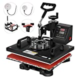 VIVOHOME 5 in 1 Multifunctional Swing Away Clamshell Printing Heat Press Transfer Machine for T-Shirt Hat Cap Mug Plate 15 x 12 Inch