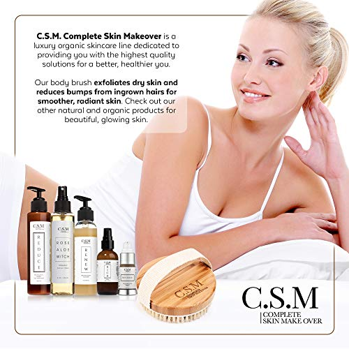 C.S.M. Body Brush for Wet or Dry Brushing - Gentle Exfoliating for Softer, Glowing Skin - Get Rid of Your Cellulite and Dry Skin, Improve Your Circulation - Gentle Massage Nodes 9