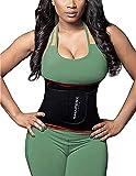 SHAPERX Waist Trainer Trimmer Slimming Belt Hot Neoprene Sauna Sweat Belly Band Weight Loss Burner Stomach Wrap,SZ8010-Red-M