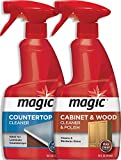 Magic Wood Cabinet and Countertop Cleaner and Polish - Cleans and Restores Shine to Wood Surfaces and Countertops