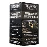 TITAN Extra-Thick Emergency Mylar Sleeping Bag, Woodland Shrowd (28-000003)