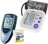Dr. Morepen BP02 Blood Pressure Monitor and BG03 Glucose Check Monitor Combo (Black)