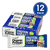 Orgain Organic Plant Based Protein Bar, S'Mores - Vegan, Gluten Free, Non Dairy, Soy Free, Lactose Free, Kosher, Non-GMO, 1.41 Ounce, 12 Count