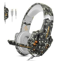 51yRHAaHdJL - ECOOPRO Gaming Headset for PS4 PC Xbox One, LED Light & Stereo Headphones with Noise Cancelling for Laptop Mac (Camo)