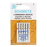 Euro-Notions Embroidery Machine Needles, Size 11/75, 5/pkg