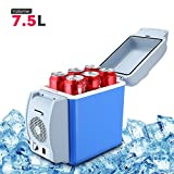 BISOZER Portable 7.5L Mini 12V Car Refrigerator Freezer Dual-Use Home Travel Vehicular Car Fridge Dual-Mode Temperature Control Dual-use