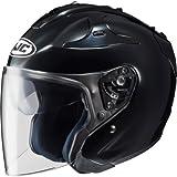 HJC Solid FG-JET 3/4 Open Face Motorcycle Helmet - Black/Large