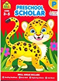 School Zone - Preschool Scholar Workbook, 64 Pages, Ages 3 to 5, Shapes, ABCs, Early Math, and More