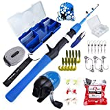 Multi Outools Kids Fishing Pole,Children Lure Fishing Kit,Fishing Rod and Reel Combo Set for Children Fishing Youth Fishing Gear Set, Freshwater and Saltwater