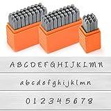 ImpressArt - Basic Bridgette Letter Metal Stamps and Number Metal Stamp Kit - Complete Set of 3 - Uppercase/Lowercase/Number - 3MM