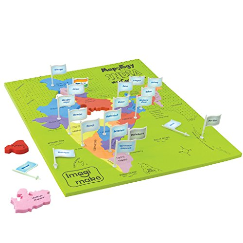 Imagimake Mapology India With State Capitals - Educational Toy And Learning Aid Puzzle-Jigsaw Puzzle 1  Imagimake Mapology India With State Capitals – Educational Toy And Learning Aid Puzzle-Jigsaw Puzzle 51yYhFaKmsL